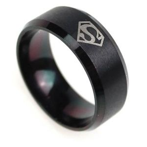 New Superman stainless steel ring size 9